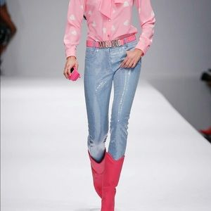 Moschino SS15 Barbie sequin denim jeans